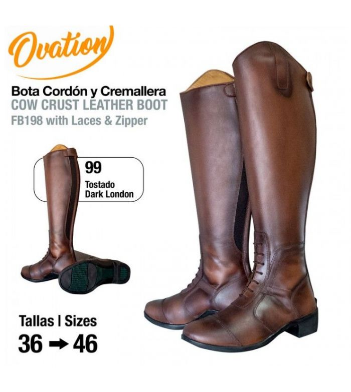 Bota Ovation Cordón & Cremallera FB198 Tostado