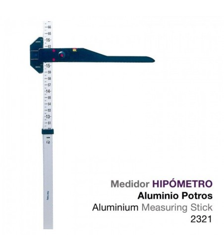 Hipómetro Aluminio Medidor Caballos y Potros