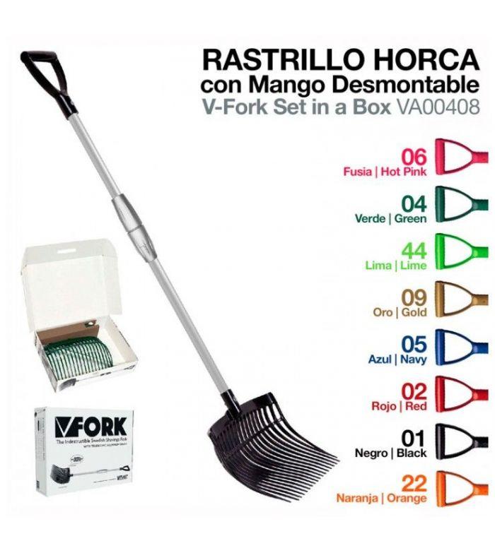 Rastrillo Horca con mango Desmontable 408