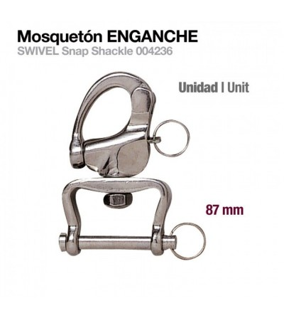 Mosquetón Enganche 004236 87 mm
