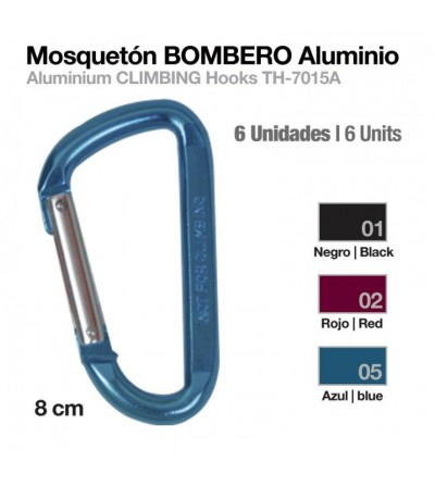 Mosquetón Bombero Aluminio TH-7015A-8 6 Uds