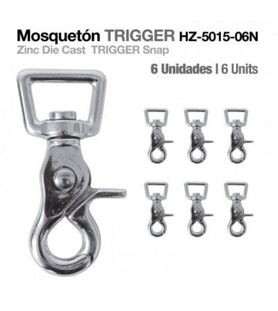 Mosquetón Trigger HZ5015-06N 6 Uds