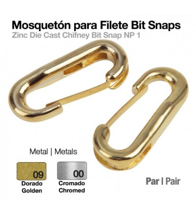 Mosquetón para Filete Bit Snaps (Par)