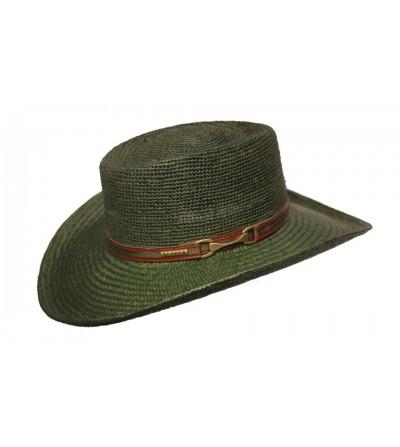 Sombrero Gambler Pánama Bricoc Verde con Trabillas Nixon