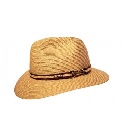 Sombrero Unisex Indiana Cáñamo Camel con Trabillas