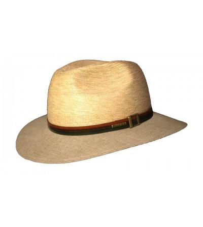 Sombrero Indiana Palma Natural Lino Tricolor