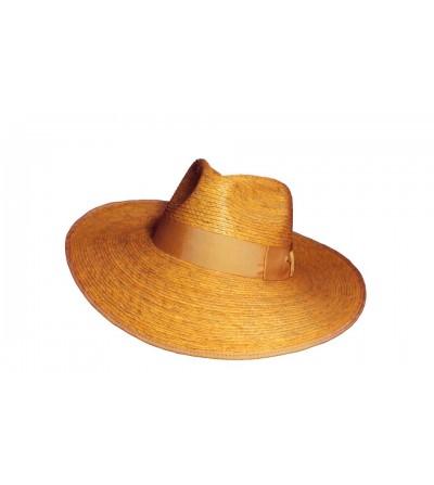 Sombrero Valey Palma Mostaza con Doble Lazo