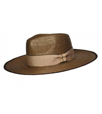 Sombrero Mastón Palma Marrón con Lazo Vivo