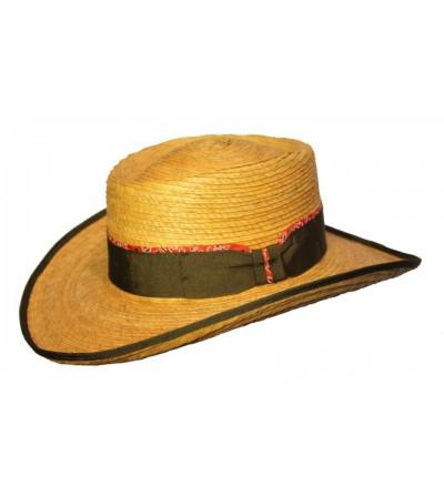 Sombrero Gambler Palma Mostaza Lazo Vivo