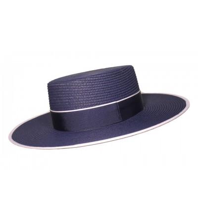 Sombrero Cordobés de Fibra Trenzada Marino