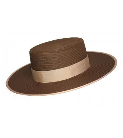 Sombrero Cordobés de Fibra Trenzada Marrón