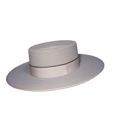 Sombrero Cordobés de Fibra Trenzada Plata