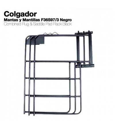 Colgador para Mantas y Mantillas F36S97/3 Negro