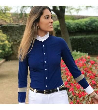 Camisa Concurso de Lycra Azul Royal