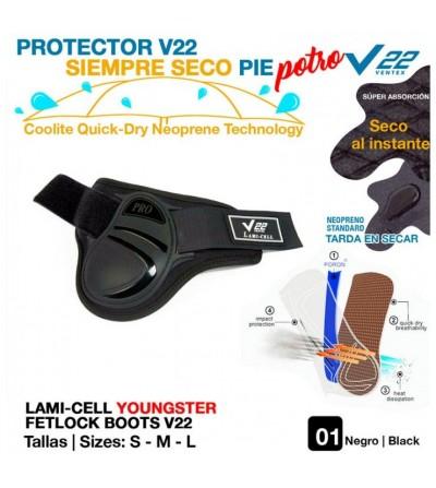 Protector V22 Siempre Seco Pie Potro Negro