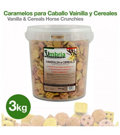 Caramelos para Caballo Vainilla y Cereales 3 Kg