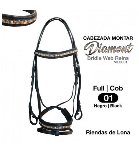 Cabezada Montar Diamont MLI0081 Negro