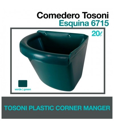 Comedero Tosoni para Esquina 6715 Verde