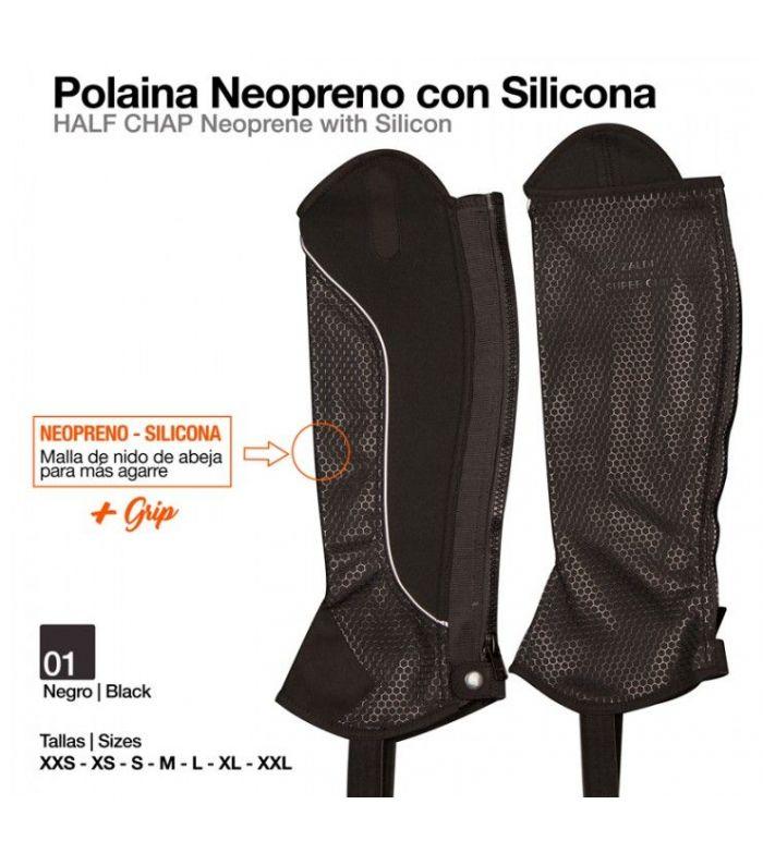 Polaina Neopreno con Silicona Negro