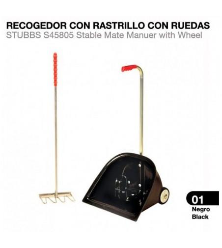 Recogedor con Rastrillo y Ruedas Stubb S45805