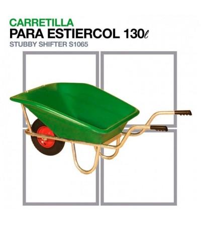 Carretilla para Estiércol S1065 Capacidad: 130L
