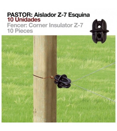 Pastor: Aislador Z-7 Esquina (10 Uds)