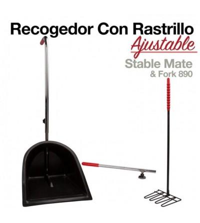 Recogedor con Rastrillo Ajustable 890
