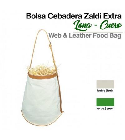 Bolsa Cebadera Zaldi-Extra- de Lona/Cuero