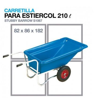 Carretilla para Estiércol S1067 191x86x82 cm 210 litros