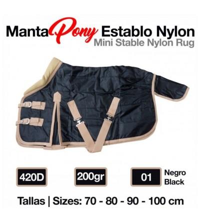 Manta Pony Establo Nylon 420D 200 gr Negro