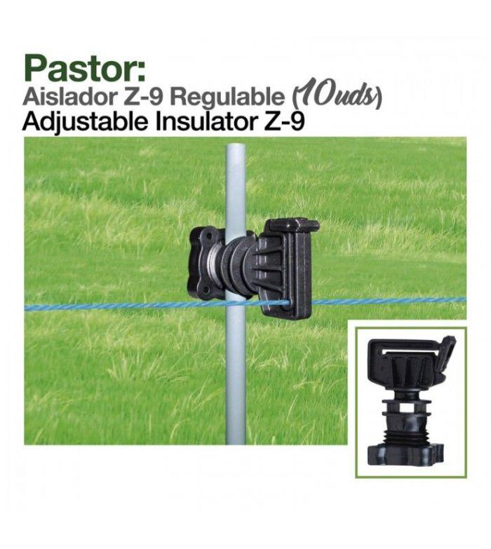 Pastor: Aislador.Z-9 Regulable (10Uds)