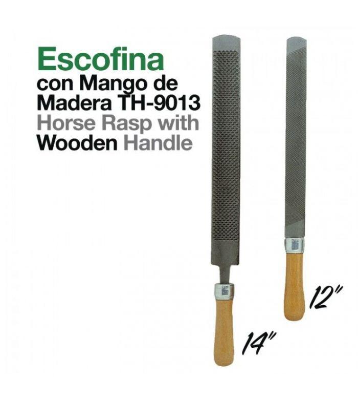 Escofina con Mango de Madera Th-9013-C