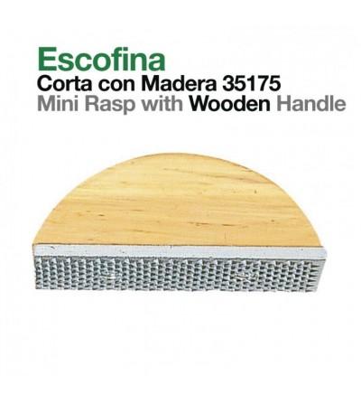 Escofina Corta Mango de Madera 35175