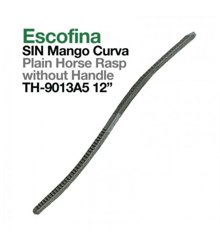 "Escofina Sin Mango Curva 12"""