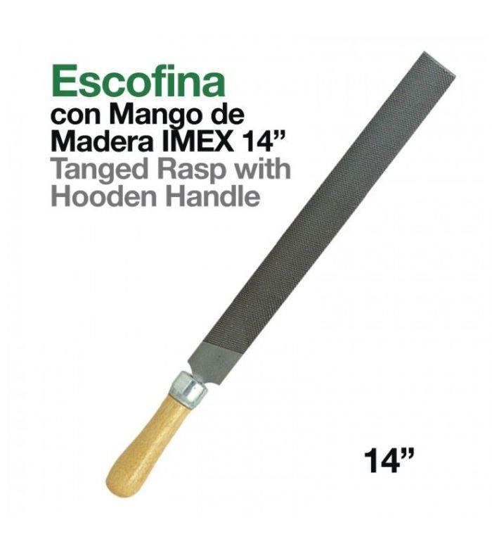 """Escofina con Mango de Madera Imex 14"""""""