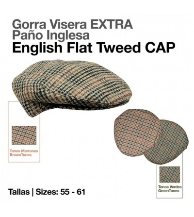 Gorra Visera Inglesa Extra Paño