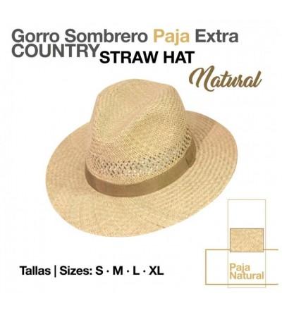 Sombrero Paja Extra Country Natural