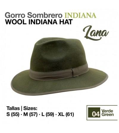 Sombrero Indiana de Lana Verde