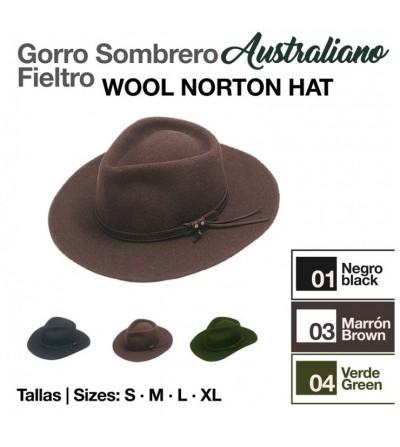 Sombrero Australiano de Fieltro Impermeable