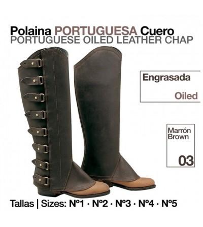 Polaina Portuguesa Cuero Engrasada