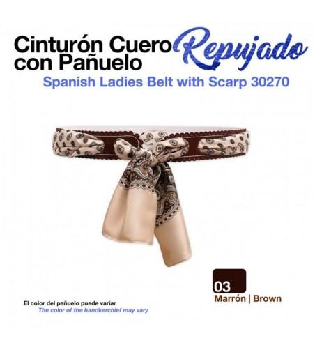 Cinturón Cuero Repujado con Pañuelo