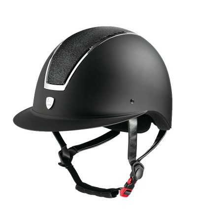 Casco Tattini con Visera Ancha Placa Brillante