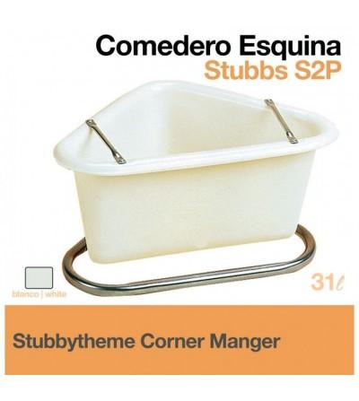Comedero Esquina Stubbs S2P Blanco