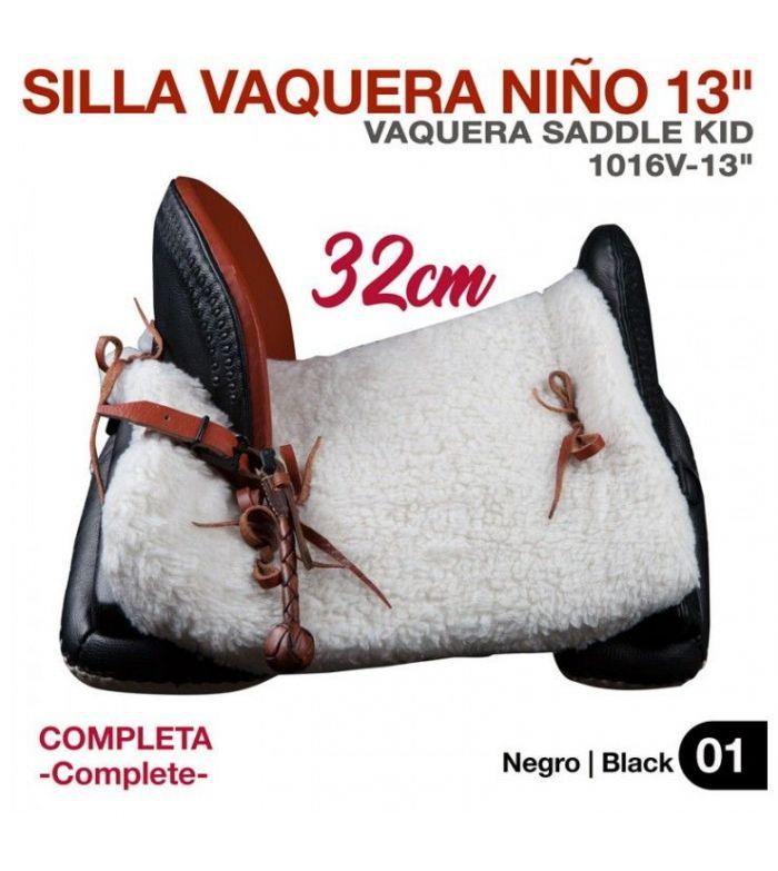 Silla Vaquera Niño13(32Cm) Negra (Comp)