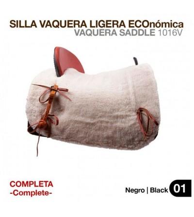 Silla Vaquera Ligera Económica Completa Negra