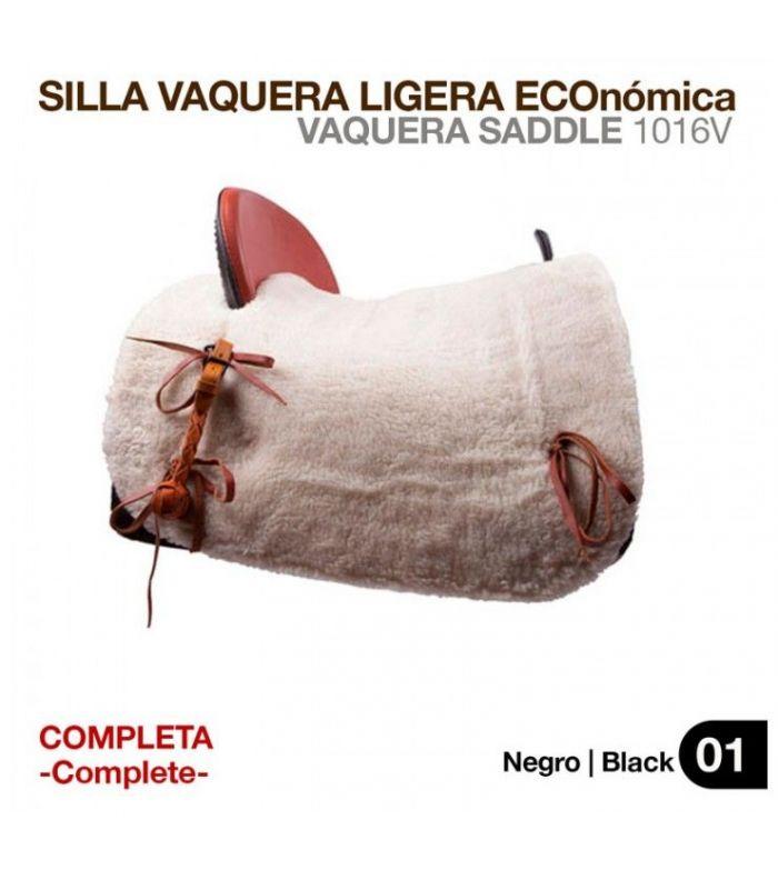 Silla Vaquera Ligera Eco (Completa) Negra