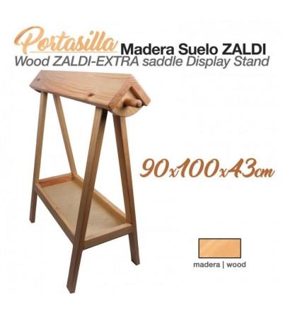 Portasilla Madera Suelo Zaldi 90x100x43 cm
