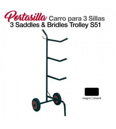 Portasilla Carro para 3 Sillas S51