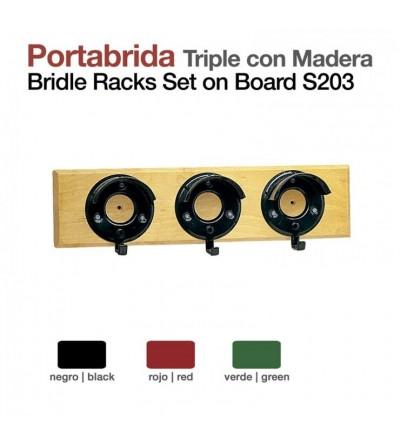 Portabrida Triple con Madera Stubbs S20/3