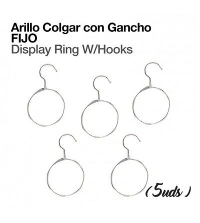 Arillo Colgador con Gancho Fijo (5 Uds)